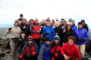 David Watts and friends on Ben More Mull