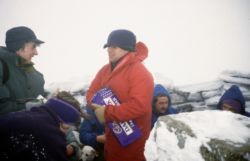 Peter Wells and friends on Meall Ghaordaidh